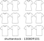 vector illustration of t shirts.... | Shutterstock .eps vector #130809101