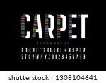 modern font design  carpet... | Shutterstock .eps vector #1308104641