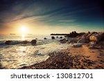 beautiful sunrise over the... | Shutterstock . vector #130812701
