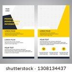 flyer corporate designs... | Shutterstock .eps vector #1308134437