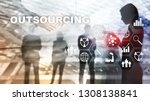 outsourcing human resources.... | Shutterstock . vector #1308138841
