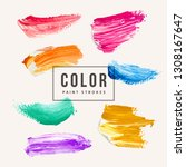 hand painted elements for... | Shutterstock .eps vector #1308167647