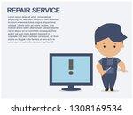 computers installation... | Shutterstock .eps vector #1308169534
