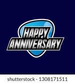 happy anniversary  beautiful... | Shutterstock .eps vector #1308171511