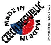 vector label made in czech... | Shutterstock .eps vector #130817171