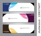 vector abstract web banner...   Shutterstock .eps vector #1308174697