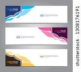 vector abstract web banner... | Shutterstock .eps vector #1308176191