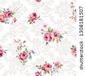 seamless duvet cover pattern... | Shutterstock . vector #1308181507