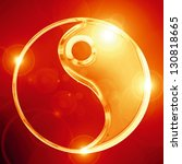 Vector Yin Yang Sign On A...