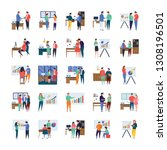 here is business meetings ... | Shutterstock .eps vector #1308196501