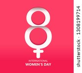 woman s day   8 march   | Shutterstock .eps vector #1308199714