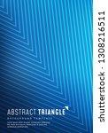 minimal blue halftone design...   Shutterstock .eps vector #1308216511