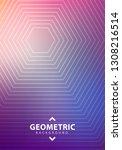 minimal halftone design...   Shutterstock .eps vector #1308216514