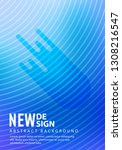 minimal halftone design...   Shutterstock .eps vector #1308216547