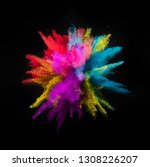 multi colored powder explosion... | Shutterstock . vector #1308226207