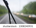 abstract traffic in raining day.... | Shutterstock . vector #1308240931