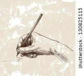 hand and pencil. drawing vector | Shutterstock .eps vector #130825115