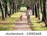 mother and little daughter... | Shutterstock . vector #13082668