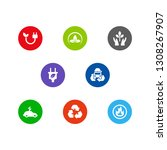 set of 8 atmosphere icons set....   Shutterstock . vector #1308267907