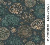 seamless vector pattern on the... | Shutterstock .eps vector #1308284077