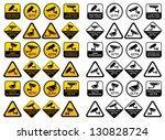 video surveillance signs   big... | Shutterstock .eps vector #130828724