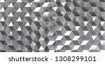 render of 3d geometric abstract ... | Shutterstock . vector #1308299101