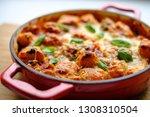 homemade gnocchi baked in... | Shutterstock . vector #1308310504