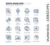 simple set of data analysis... | Shutterstock .eps vector #1308321991
