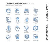 simple set of credit and loan... | Shutterstock .eps vector #1308321994