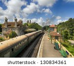 A Steam Train Pulls In To The...