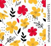 floral seamless pattern for... | Shutterstock .eps vector #1308349771