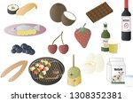 miscellaneous food vector... | Shutterstock .eps vector #1308352381