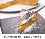pastiera napoletana sweet... | Shutterstock . vector #1308372961