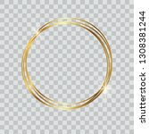 round shiny gold frame with... | Shutterstock .eps vector #1308381244
