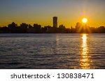 Manhattan sunrise - stock photo
