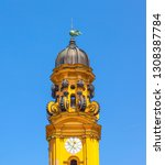 clocktower of famous theatine... | Shutterstock . vector #1308387784