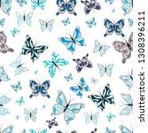 simple feminine pattern for... | Shutterstock .eps vector #1308396211