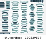vector set of 75 ribbons | Shutterstock .eps vector #130839839