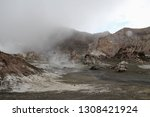 active volcano with sulphuric... | Shutterstock . vector #1308421924