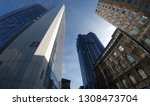 street level view of modern and ... | Shutterstock . vector #1308473704