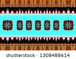 colorful horizontal pattern for ... | Shutterstock . vector #1308488614
