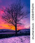 yorkshire dales  a winter's... | Shutterstock . vector #1308495694