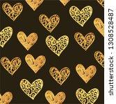 valentines' day vector pattern   Shutterstock .eps vector #1308528487