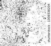 abstract chaotic halftone black ... | Shutterstock .eps vector #1308538204