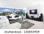 luxury living room and balcony | Shutterstock . vector #130853909
