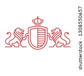 lions coat os arms  | Shutterstock .eps vector #1308550657