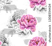 vector seamless pattern with... | Shutterstock .eps vector #1308554434