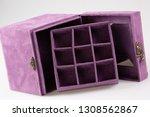 purple jewerly empty box... | Shutterstock . vector #1308562867
