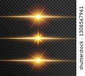 light effect glow. star flashed ... | Shutterstock .eps vector #1308567961