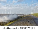 dutch sea with off shore wind...   Shutterstock . vector #1308576121